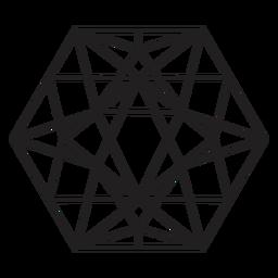 Impresionante hexágono de cristal