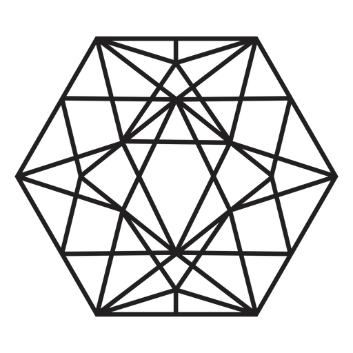 Awesome crystal hexagon Transparent PNG