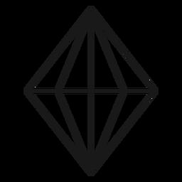 Impresionante icono de trazo de cristal