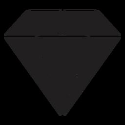 Impresionante diamante de cristal negro