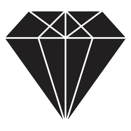 Awesome diamond black crystal Transparent PNG
