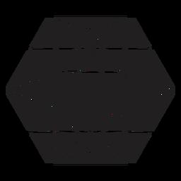 Increíble cristal hexagonal