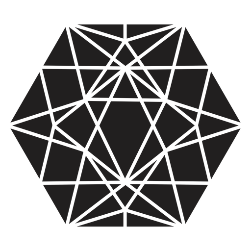 Awesome hexagon crystal Transparent PNG