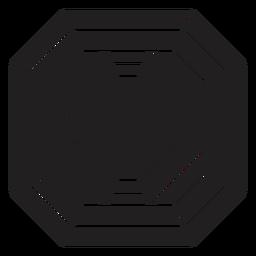 Impressionante bloco de cristal padrão