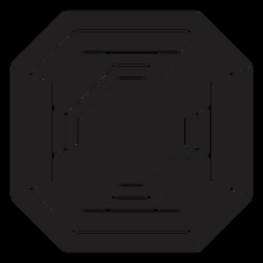 Bloque de cristal de patrón impresionante