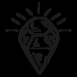 Awesome shining diamond icon