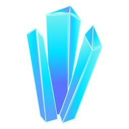 Beautiful blue crystal prisms