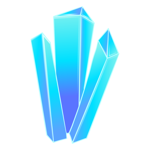 Beautiful blue crystal prisms Transparent PNG