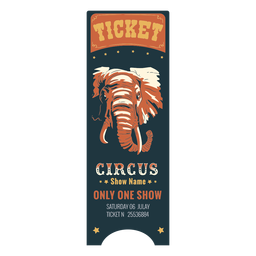 Hermoso boleto de circo