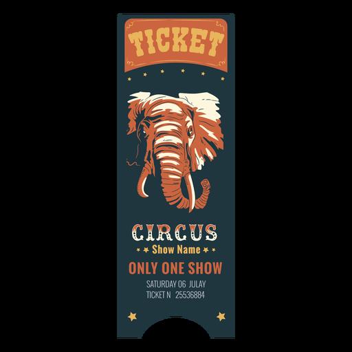 Beautiful circus ticket