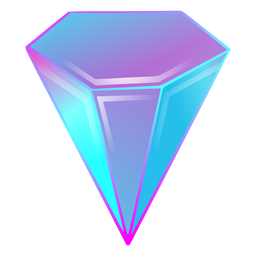 Crystal diamond gradient colors