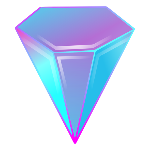 Crystal diamond gradient colors Transparent PNG