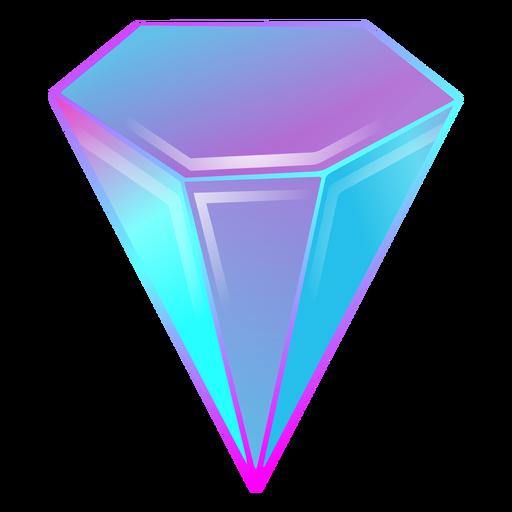 Crystal diamond gradient colors