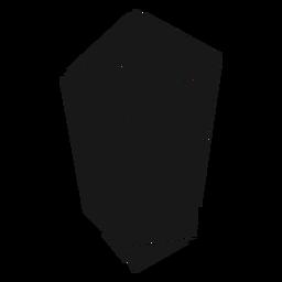 Schwarzes Kristallprisma