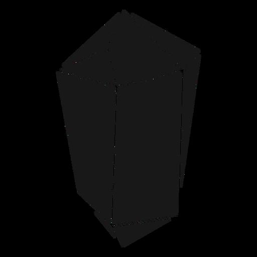 Black crystal prism Transparent PNG