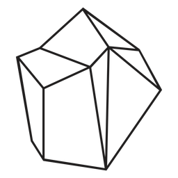 Block crystal simple icon
