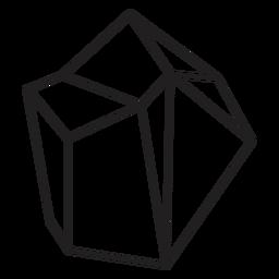Block Kristall einfaches Symbol