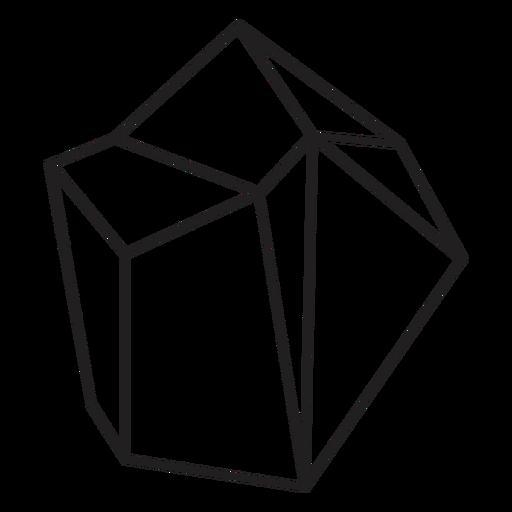 Icono simple de cristal de bloque