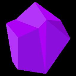 Bloque de cristal morado