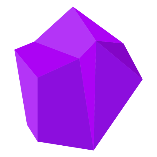 Block purple crystal