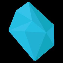 Trozo azul de cristal