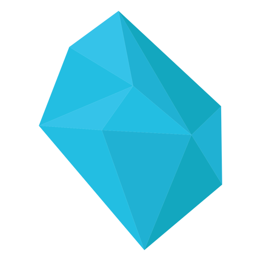 Blue chunk of crystal Transparent PNG