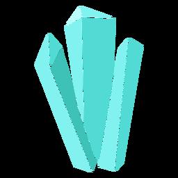 Cristales largos azules