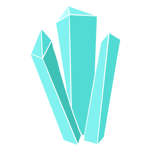 Blue long crystals Transparent PNG