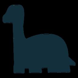 Brachisaurus dino silhouette