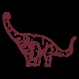 Brachisaurus dinosaur drawn