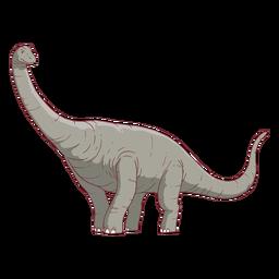 Brachisaurus dinosaur illustration