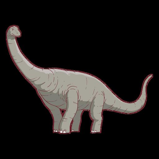 Ilustração do dinossauro Brachisaurus