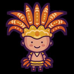 Brasil fofo indígena