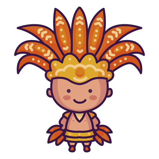 Brazil cute indigenous Transparent PNG