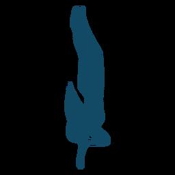 Silhueta de menina subaquática de respiração
