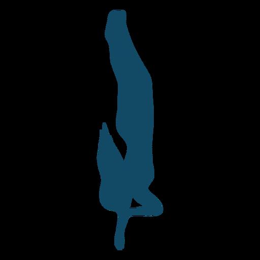 Silueta de niña bajo el agua de respiración Transparent PNG