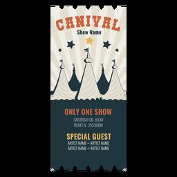 Boleto de circo de carnaval