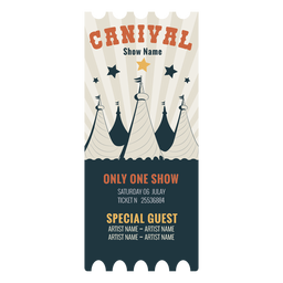 Carnival circus ticket