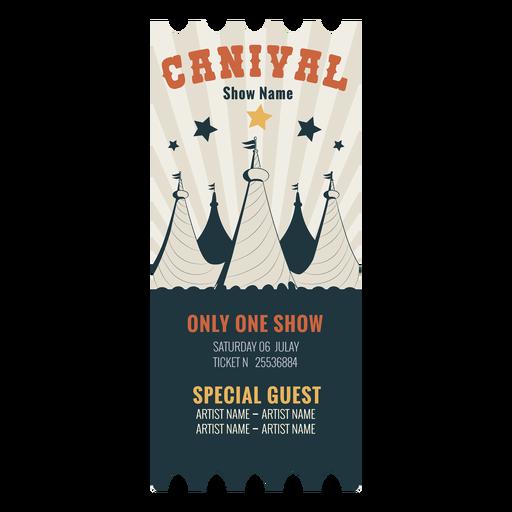 Boleto de circo de carnaval Transparent PNG