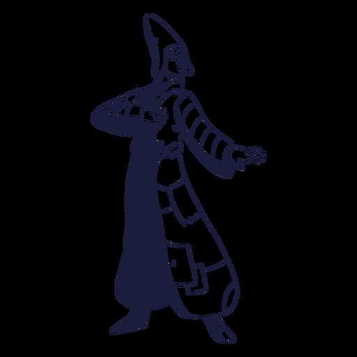 Charakter Zirkus gezeichnet