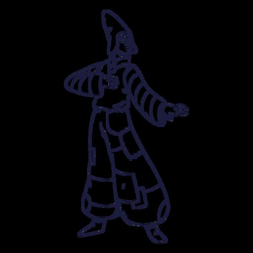 Character drawn circus