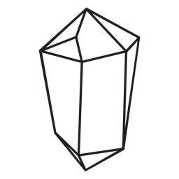 Chunk crystal simple icon