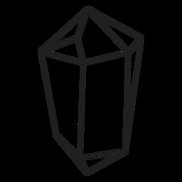 Chunk Kristall einfache Ikone