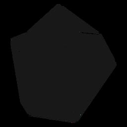 Klobiger schwarzer Kristall