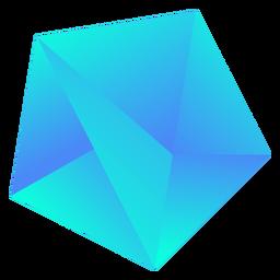 Cristal azul fresco y grueso