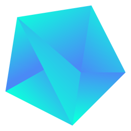 Klobiger kühler blauer Kristall