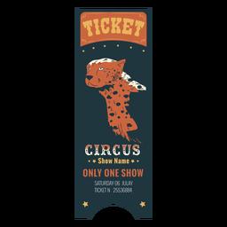 Bilhete de circo animal bonito