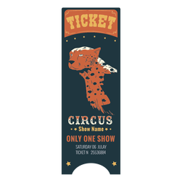 Circus animal ticket beautiful