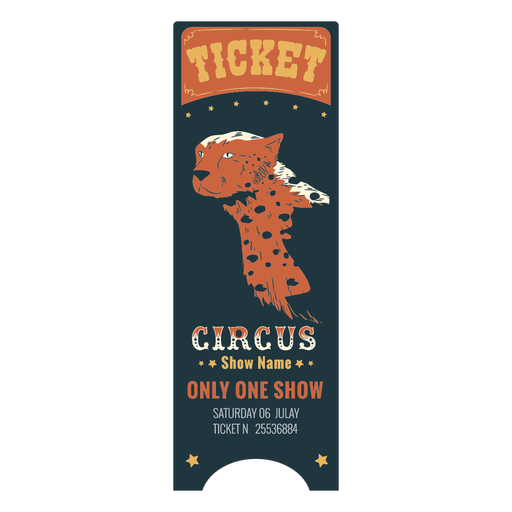 Bilhete de circo animal bonito Transparent PNG