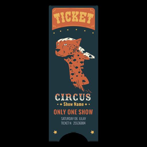 Boleto de animales de circo hermoso Transparent PNG